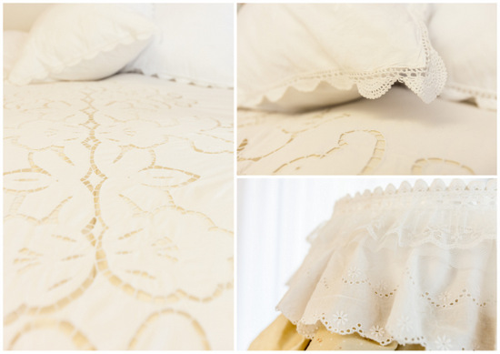 פרטיי תחרה יוצרים אווירה חמה בחדר השינה