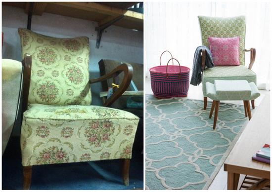 כורסא יד שניה-לפני ואחרי