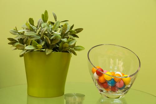 נגיעות של צבע בצורת מסטיקים צבעוניים