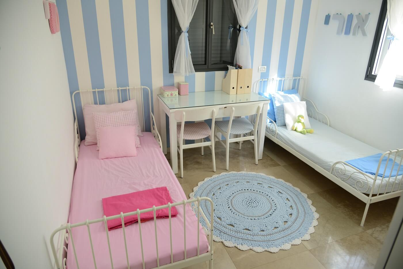 טפט פסים לחדר ילדים