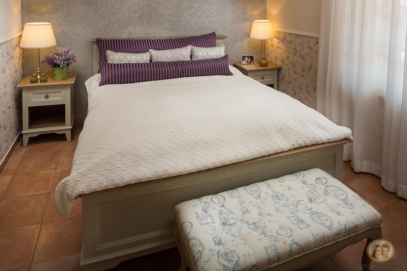 חדר שינה בסגנון פרובנס