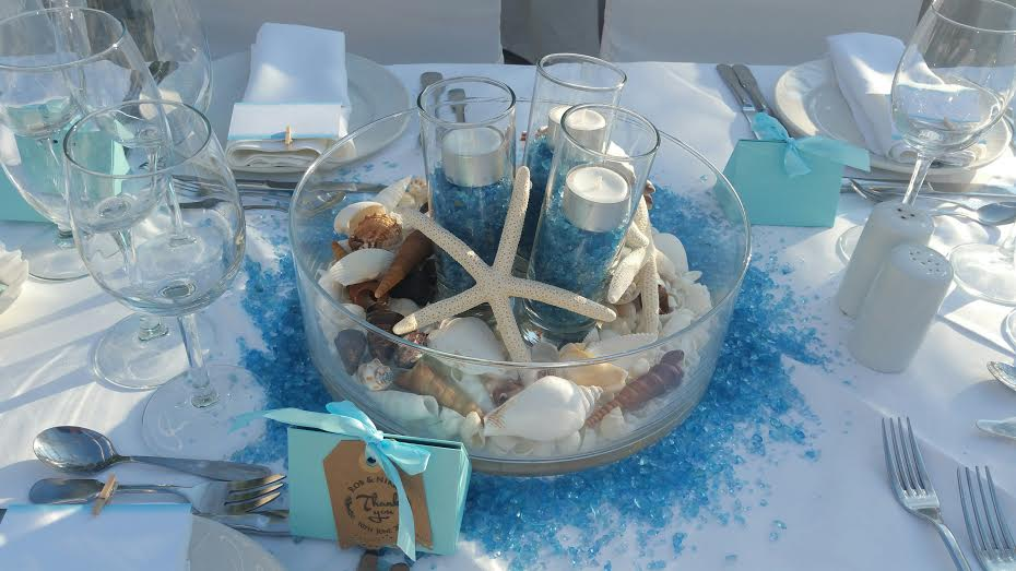 עיצוב חתונה בים
