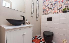 עיצוב שירותי האורחים בבית של ליזי וגיא