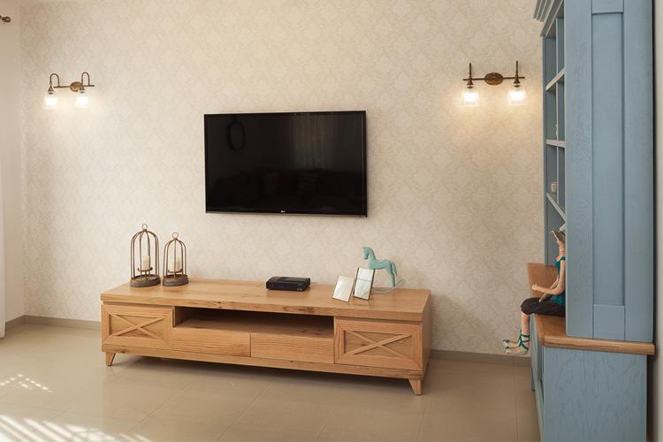 עיצוב קיר טלויזיה מנורות צמודות קיר