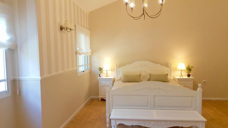 עיצוב חדר שינה בסגנון רומנטי