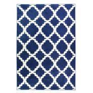 שטיח אדגר כחול לבן