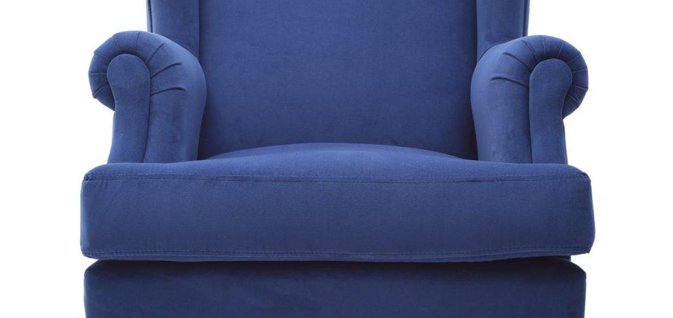 כורסא קטיפה כחולה