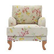 כורסא פרחונית מעוצבת