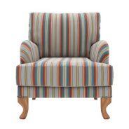 כורסא מעוצבת עם פסים
