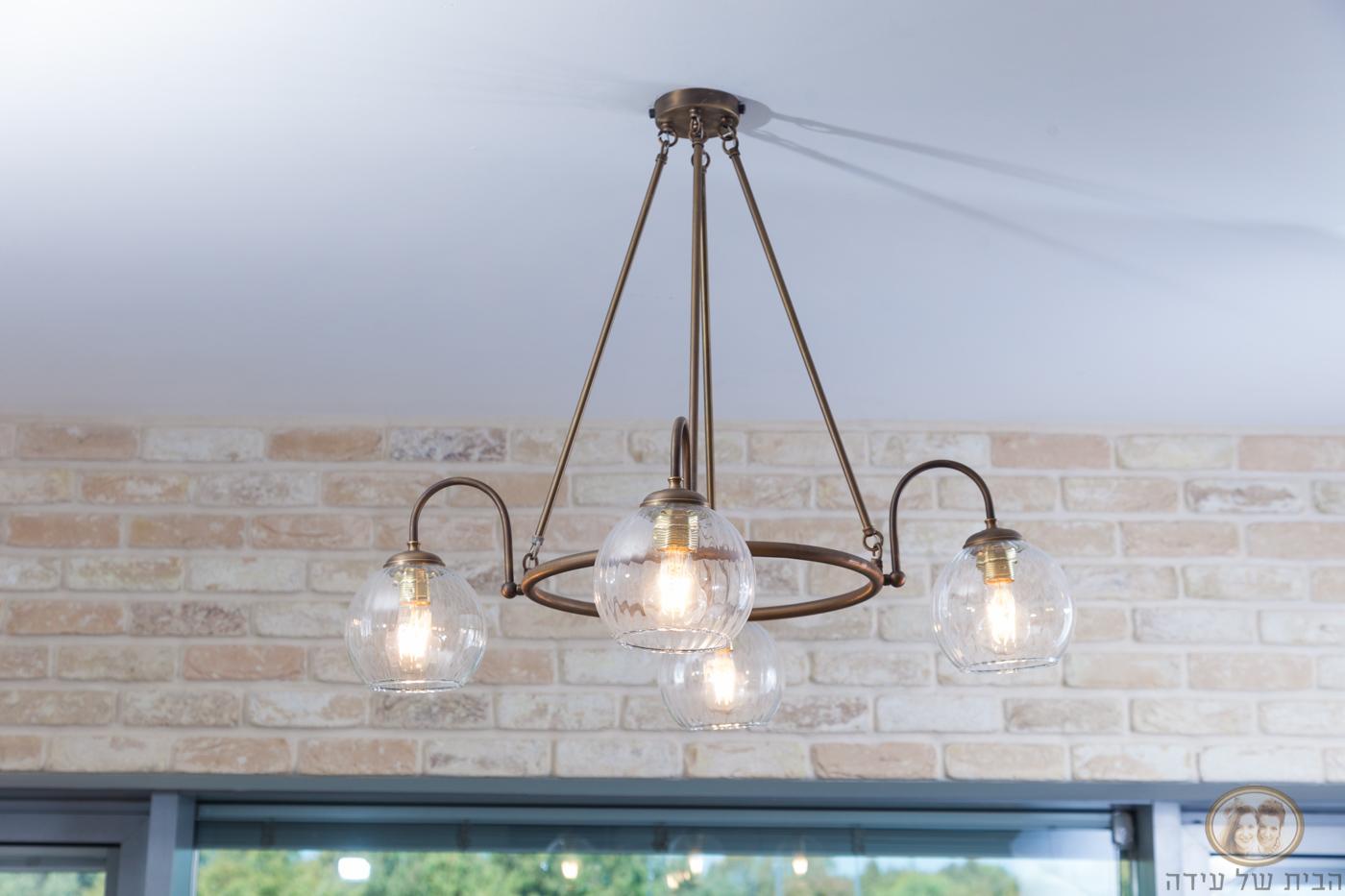 מנורת קנים לסלון