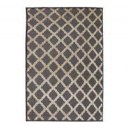 שטיח סיימון שטיח מדליונים בגווני אפור ושמנת