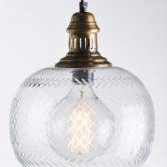 גוף תאורה תלוי עשוי זכוכית קריסטל