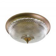 מנורת אשבל , צמודת תקרה עשויה זכוכית קריסטל