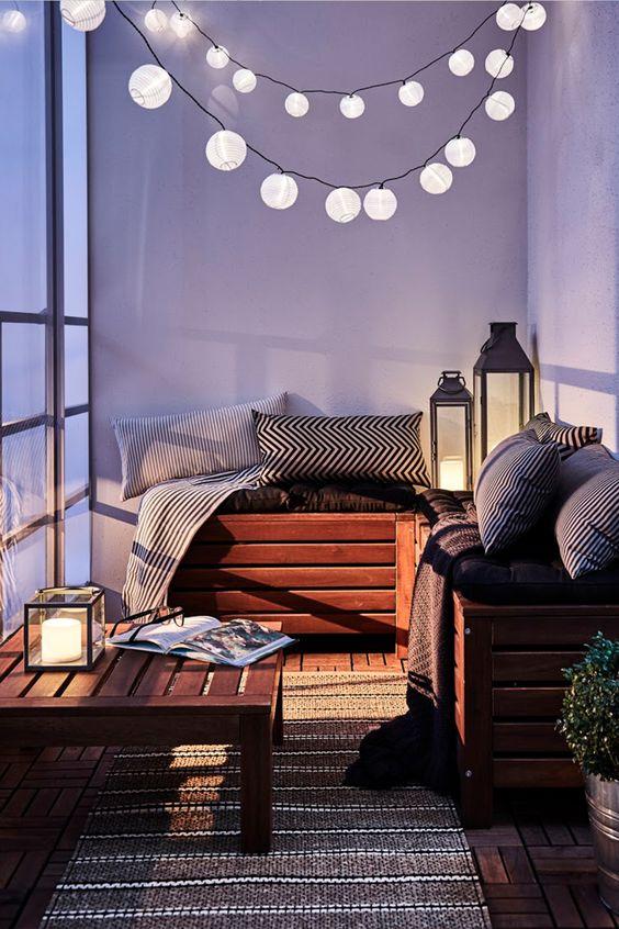 תאורה למרפסת