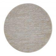 שטיח ירדן עגול, עשוי חבלים ורצועות עור בגווני בז', אפור, אוף ווייט, וגרז'