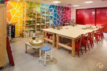 עיצוב חלל משרד עם מוזאיקה