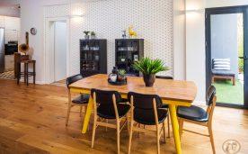 עיצוב פינת האוכל והמטבח של מיקה ויפתח