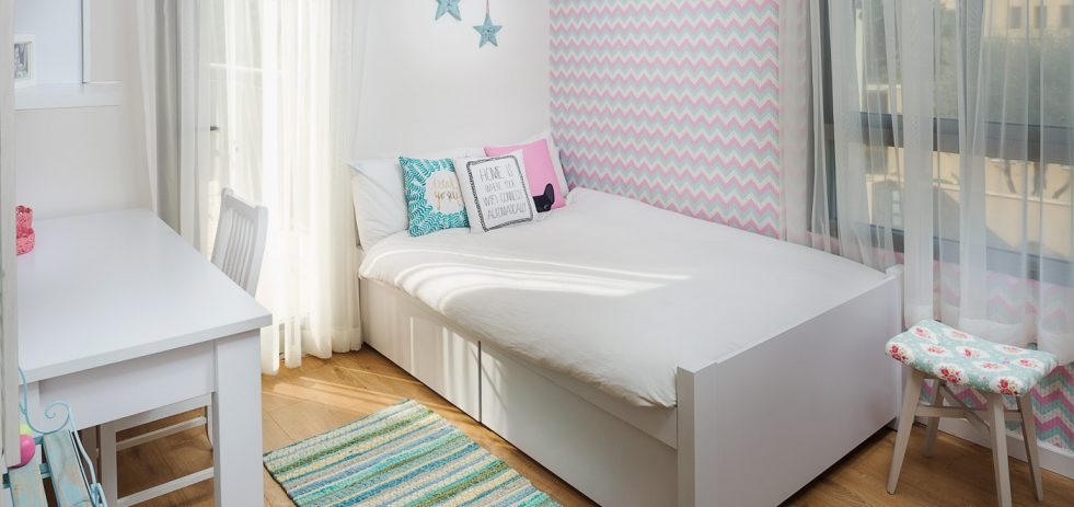 מיטה מעוצבת בחדר ילדים