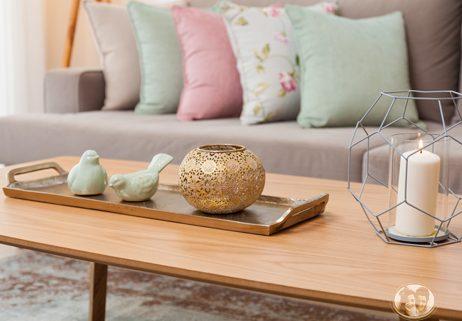 שולחן כריות מעוצבות סלון