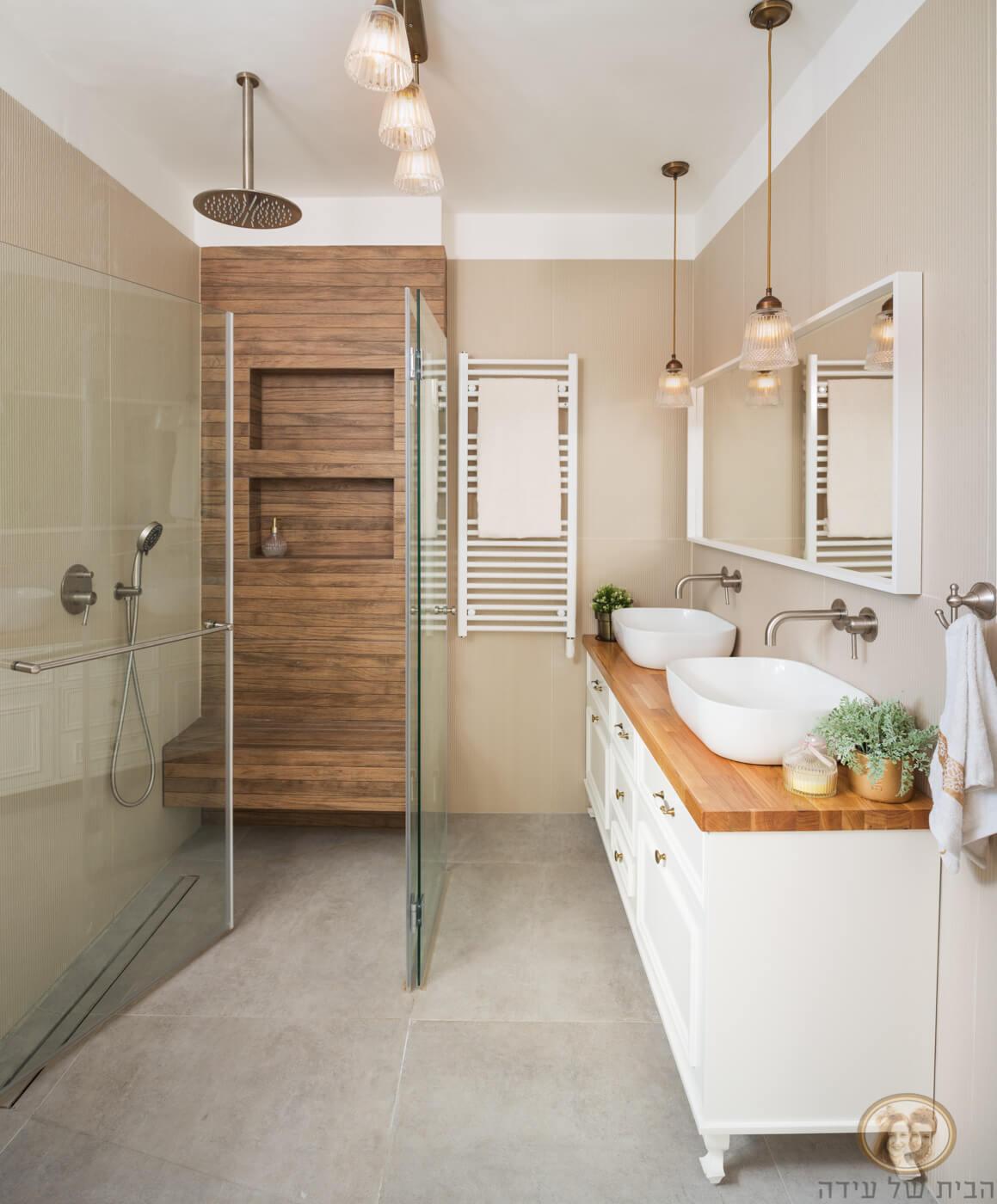 עיצוב חדר אמבטיה בסגנון ספא
