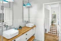 עיצוב חדר אמבטיית הילדים של חן ואיתי