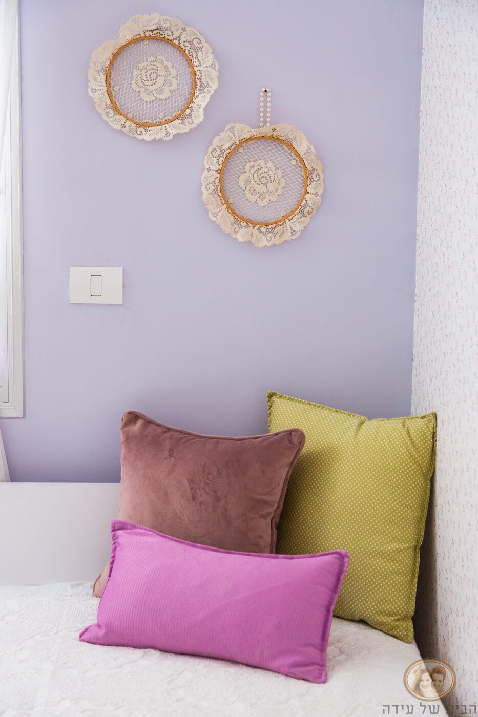 עיצוב חדר ילדה בגוון סגול
