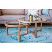 שולחן סלון טווינס