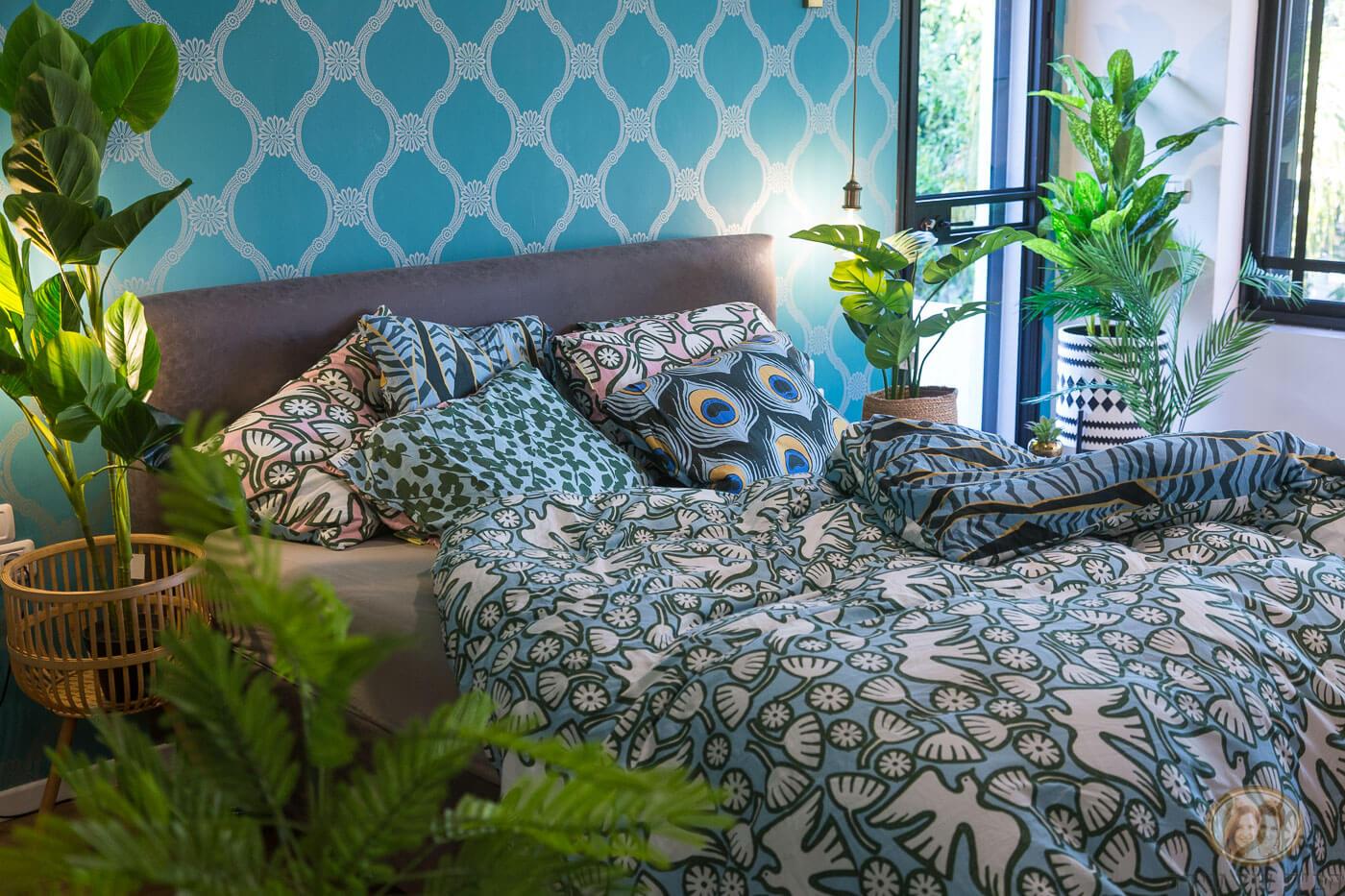 חדר שינה בסגנון בוטני
